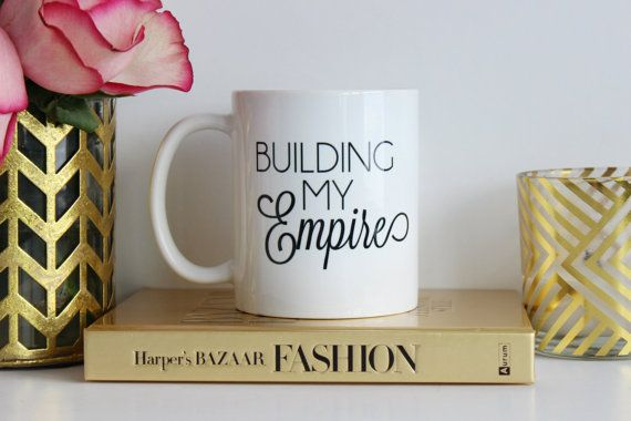 BETTYCO BETTY AND CO GIRLBOSS GIRL BOSS BUSINESS STARTUP GLITTER MUGS WE LOVE CUTE MUGS BUILDING MY EMPIRE MUG