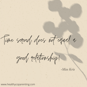TIME SERVED DOES NOT EQUAL A GOOD RELATIONSHIP!