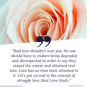 REAL LOVE SHOULDN'T SCAR