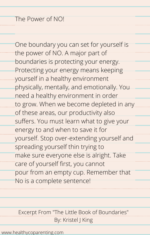 EXCERPT POWER OF NO
