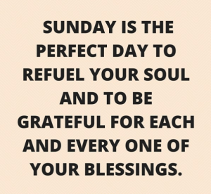 SUNDAY QUOTES PERFECT