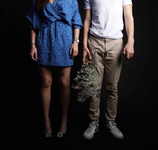 COUPLE STAND IN THE DARK E A B